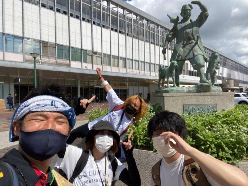 岡山・広島でピースボートの地球一周ポスターを貼ってきました